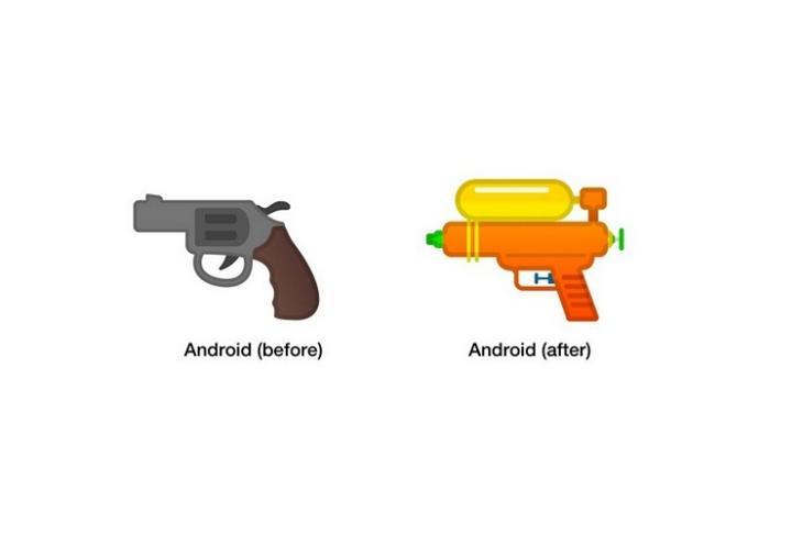 Android Google gun emoji website