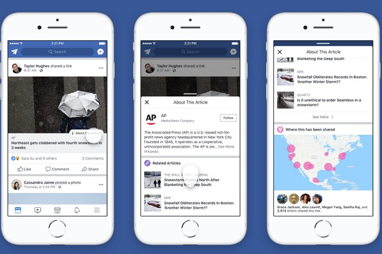 Facebook's 'About this Article' Button Helps You Get More Context for News Links