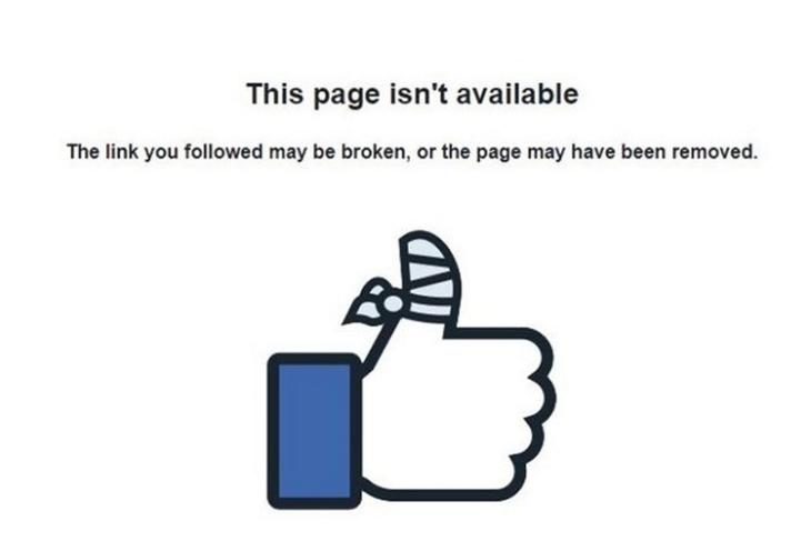 Facebook Page Not Available website