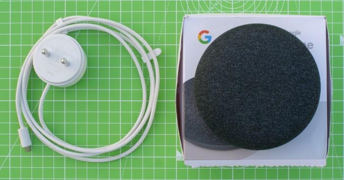 Google Home Mini Whats in the Box