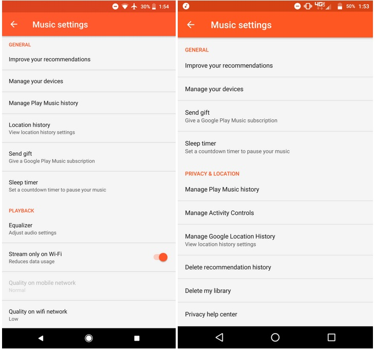 Google Play Music Update Brings Enhanced Privacy and Location Controls