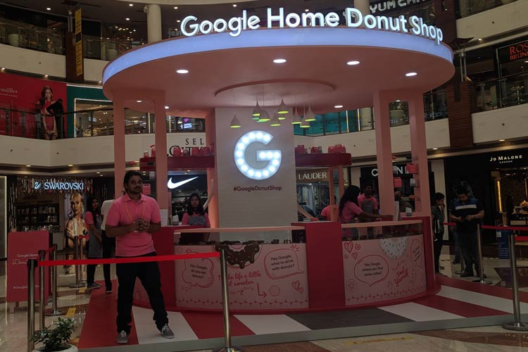 Google Home Donut Shop in Delhi