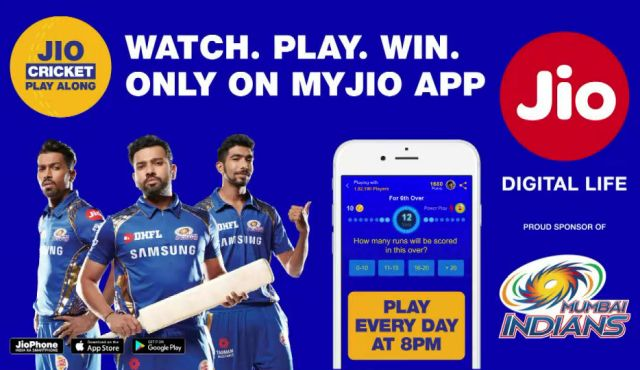 Jio Cricket Festival Brings Rs 251 IPL 2018 Pack and Jio Cricket Play Along Experience