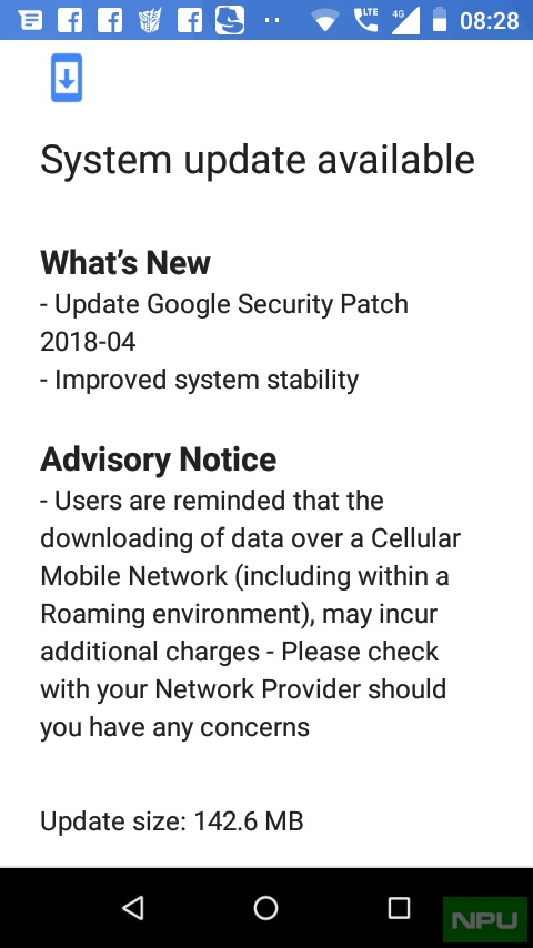 Nokia 1 April Security Update