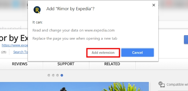 Rimor by Expedia Add Extension