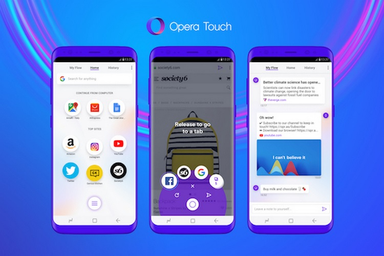 Opera Touch Simplifies One-Handed Browsing on Android, Works With