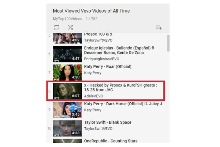 Vevo's YouTube Channel Hacked, Top Viewed Music Videos from Many Artists Removed