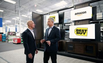 amazon best buy partnership fire tv smart tvs