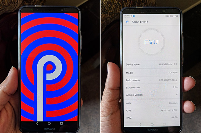 Android P Developer Preview Spotted Running on Huawei Mate 10 Pro