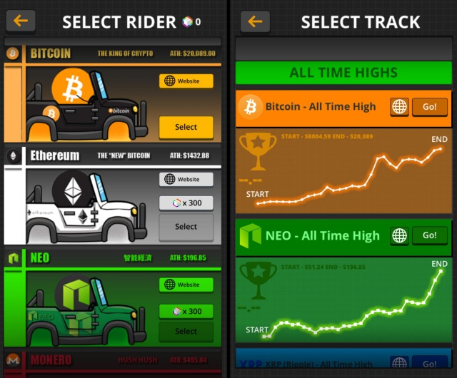 crypto rider cryptocurrency racing