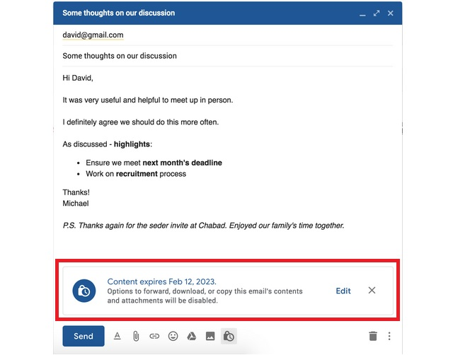 Destroy email