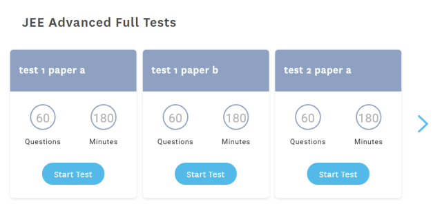 Embibe provides tests and curriculum for a variety of exams and levels