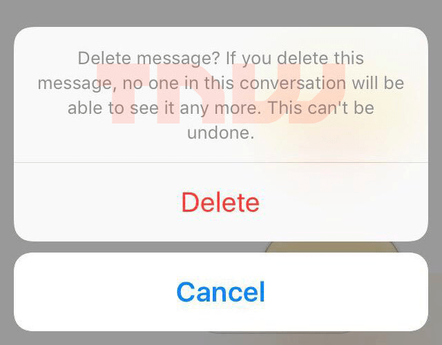 facebook messenger delete message