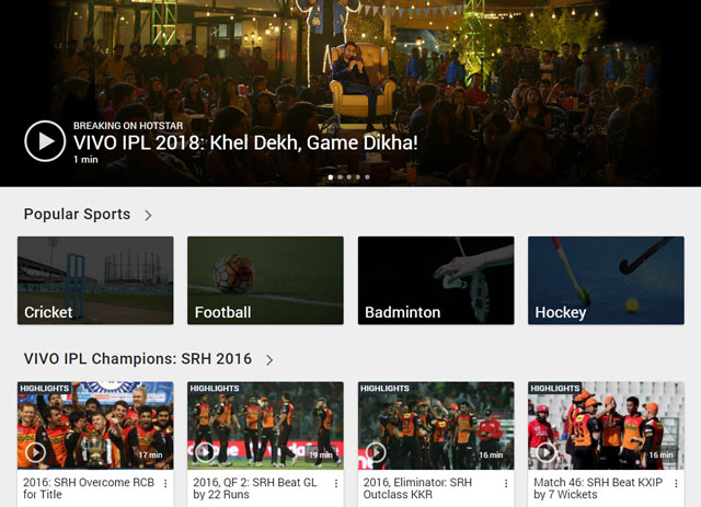 Hotstar Launches New 'All Sports' Subscription at Rs 299 Per Year