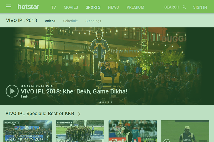Hotstar Makes IPL 2018 Viewing Free for Jio and Airtel Subscribers