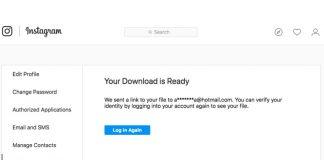 instagram data download