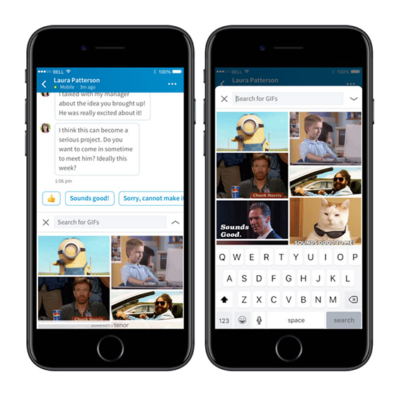LinkedIn Gets GIF Support in Direct Messages