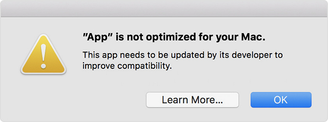 Apple Alerting Mac Users About Impending Incompatibility With 32-bit Apps