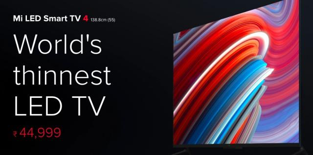 xiaomi mi tv 4 price hike