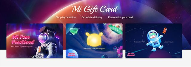Xiaomi Launches Mi Gift Cards in India