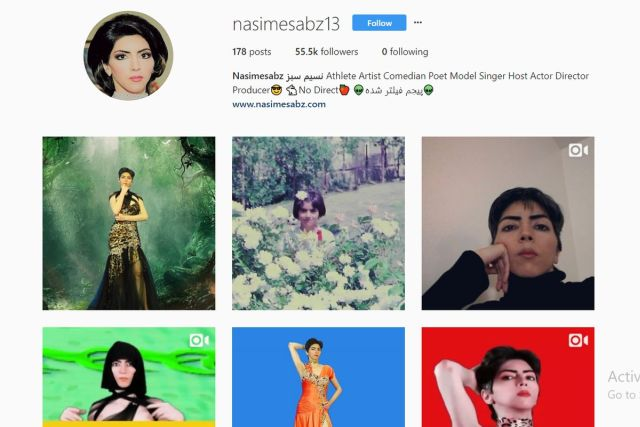 Nasim Aghdam's Instagram page has also been suspended