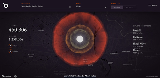 This Online Simulator Lets You Nuke Any Place on Earth to Educate You About Nuclear Weapons