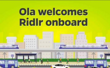 ola ridlr acquisition