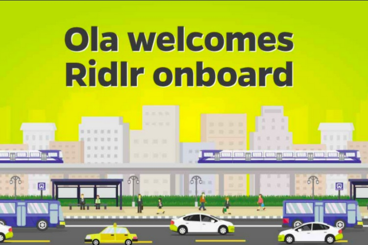 Ola Acquires Ridlr With Eye on Creating Public Transport