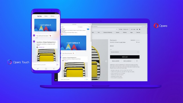 Opera Touch Simplifies One-Handed Browsing, Works With Opera Flow Sync