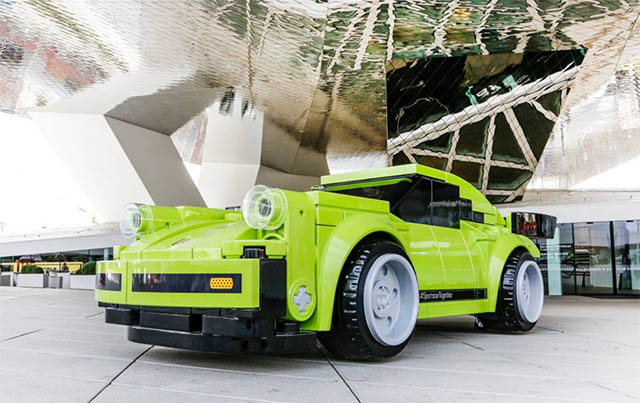 Porsche Made a Scale Model of the 911 Turbo 3.0 Out of Giant Lego Bricks