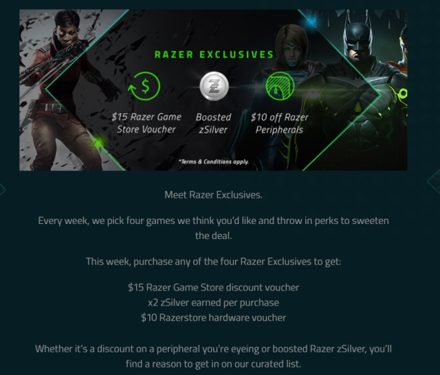 Razer ZSilver rewards program