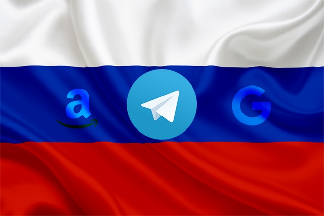 Russia Blocks Google and Amazon's IP Addresses to Restrict Telegram Access