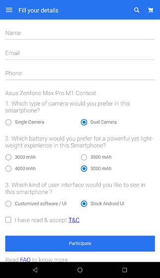 Flipkart Quiz Reveals Specs of Asus Zenfone Max Pro: Dual Rear