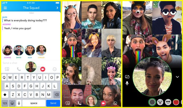 Group Video calls in Snapchat