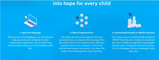unicef cryptocurrency mining