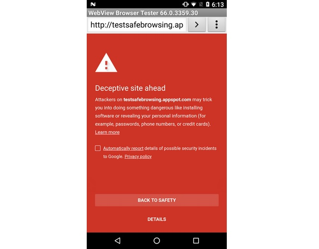 Google Extends Safe Browsing Protocols to Apps Using Android's WebView Feature