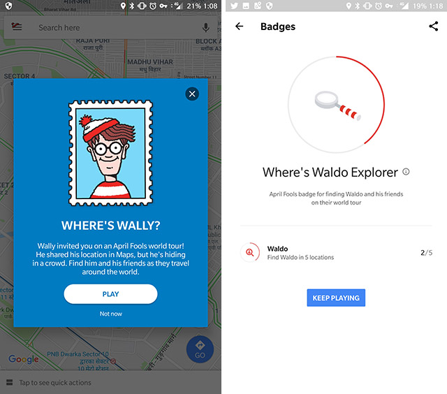 Google Maps Added a Where's Waldo Game to Its App for April Fool's Day