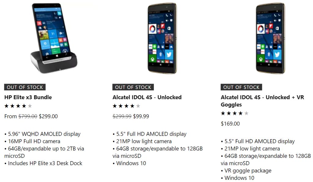 Windows Phones Finally Run Out of Stock on Microsoft's Online Store