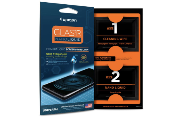 2. Spigen Screen Protector GLAS.tR Nano Liquid