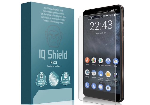6. IQ Shield Full Coverage Screen Protector for Nokia 6.1