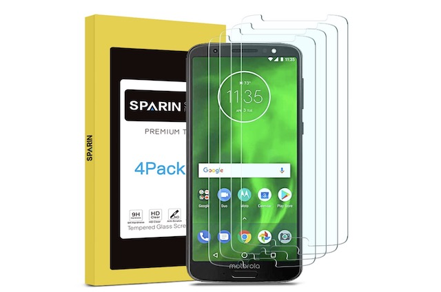 6. Moto G6 Plus Screen Protector By SPARIN