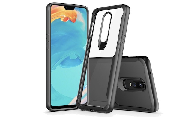 6. Wellci Clear Love Series Case for OnePlus 6