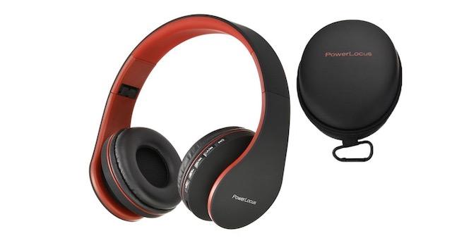 7. PowerLocus Wireless Bluetooth Over-Ear Stereo Headphones