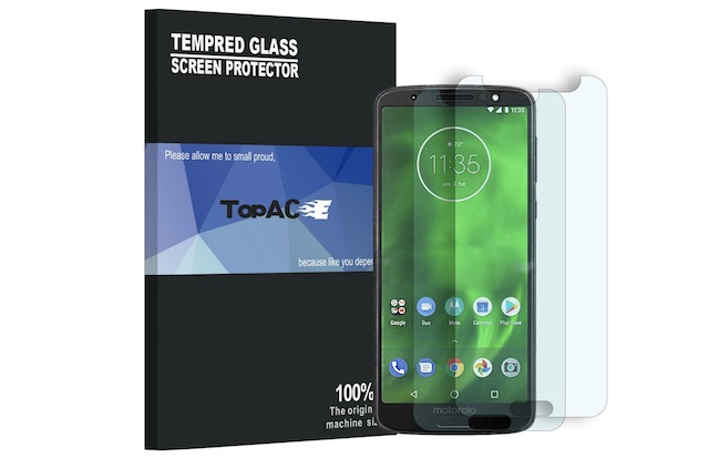 9. Moto G6 Plus Screen Protector By TopACE