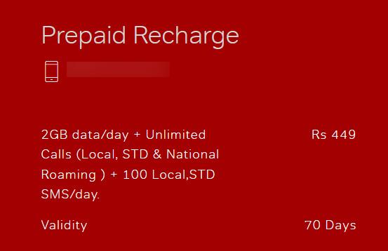 Airtel Prepaid 449