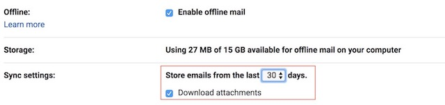 Enabling the New Offline Mode in Gmail 5 a