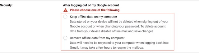 Enabling the New Offline Mode in Gmail 5 b