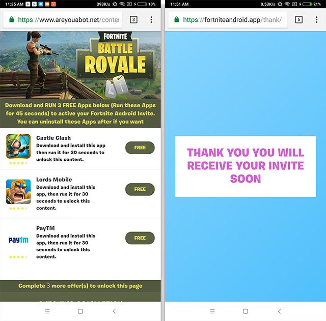 Fortnite Scam youtube ad 3