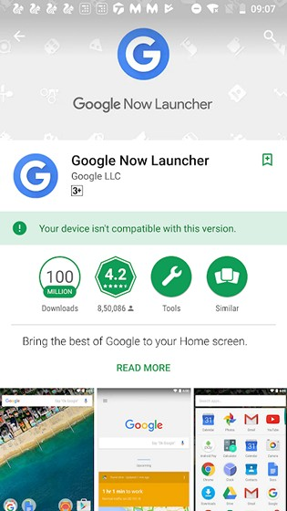 Google Now Launcher Being Phased Out; Listed as Incompatible With Most Devices