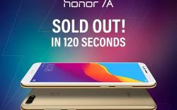 Honor 7A Sold Out website